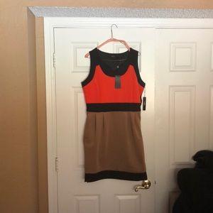 Vertigo - Beautiful mixed color panel dress